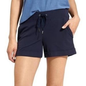 Athleta Midtown Shorts Cuffed Elastic Drawstring 4